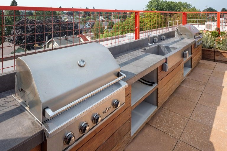 The Wilmore rooftop with barbecues