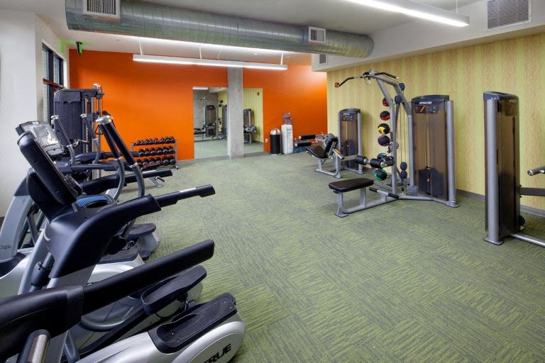 The wilmore gym with workout equipment