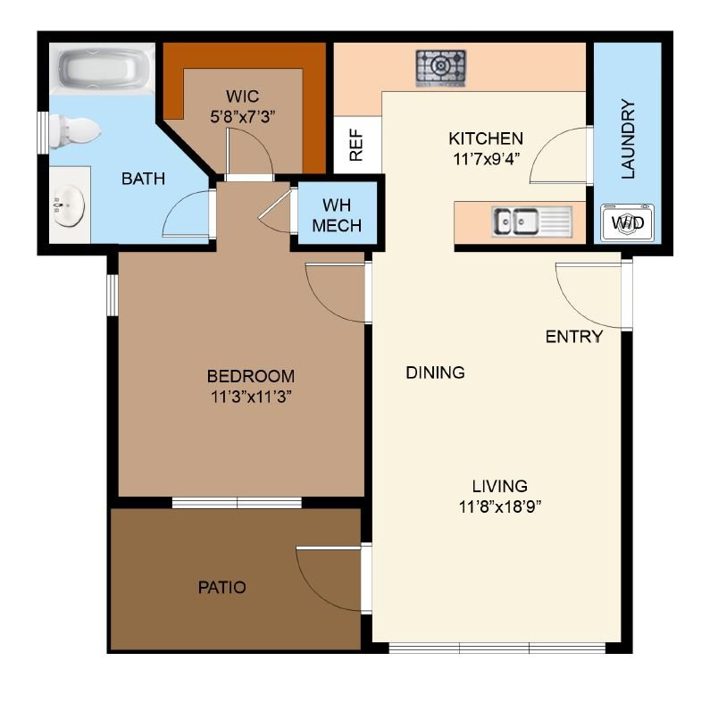 Floor Plans Of The Strand Apartments In Kyle, TX