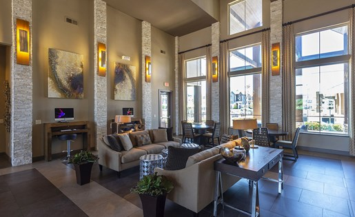 Image of the resident clubhouse at Aliso at Briar Forest in Houston