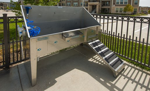 Image of Our Dog Wash station in our pet friendly community in Briar Forest