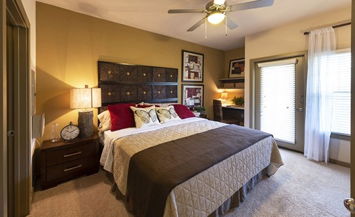 Image of the model bedroom here at Aliso Just minutes from the 10 freeway