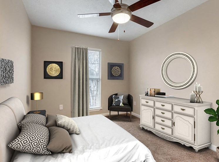 Bedroom Suite at Ridgeland Place Apartment Homes, Ridgeland, Mississippi