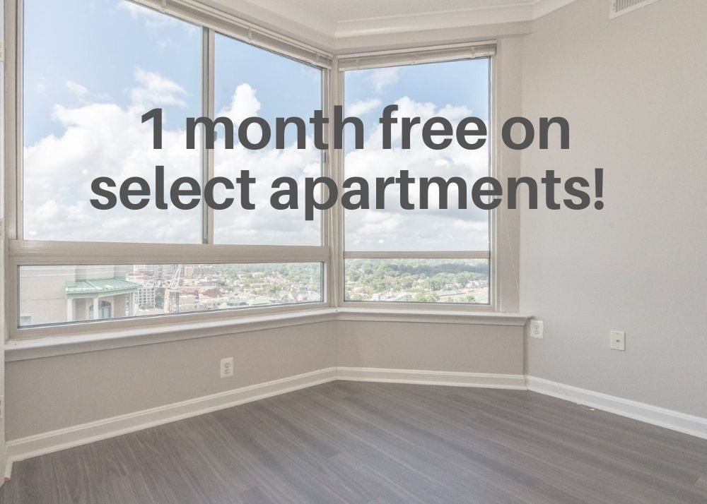 1 month free on select apartments!