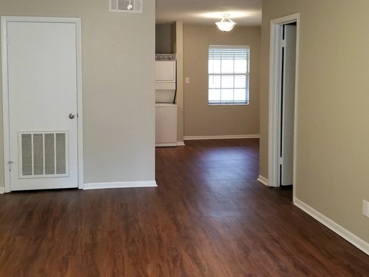hardwood-inspired flooring at Aspen Run Apartments in Tallahassee, FL 32304