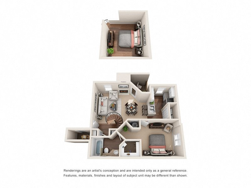 The York Loft Floor Plan 3