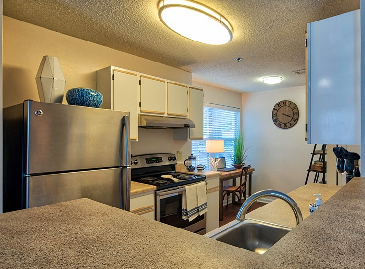 Kitchen at Marina Shores Apartments in Virginia Beach