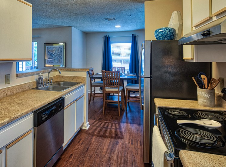 Kitchen 2 at Marina Shores Apartments in Virginia Beach
