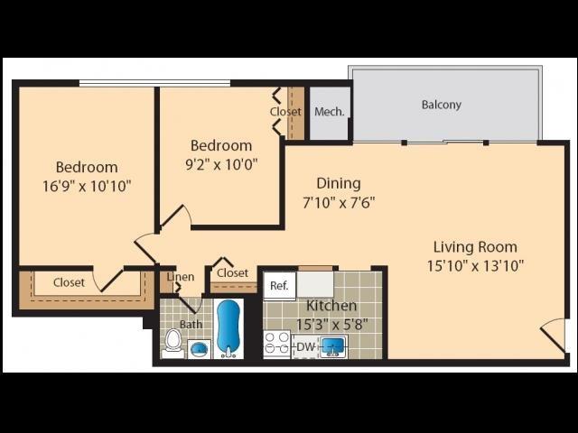 2 Bedroom A Floor Plan 4
