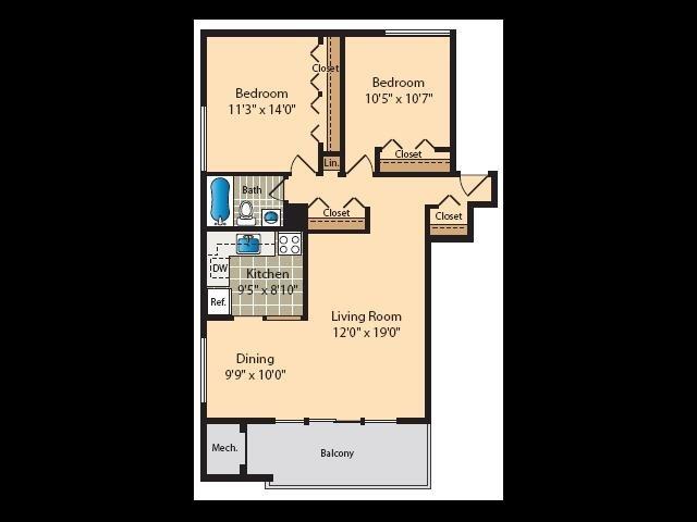 2 Bedroom C Floor Plan 6