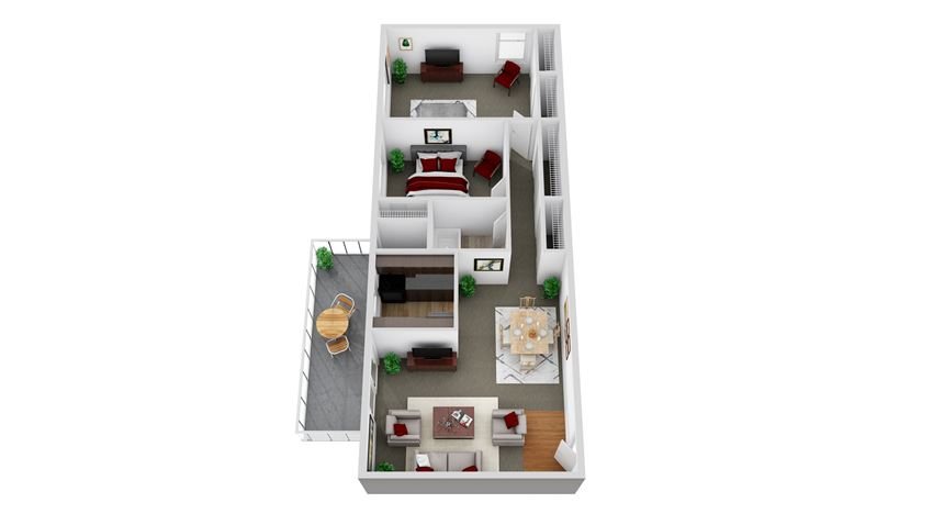 2 Bedroom - Rock Glen
