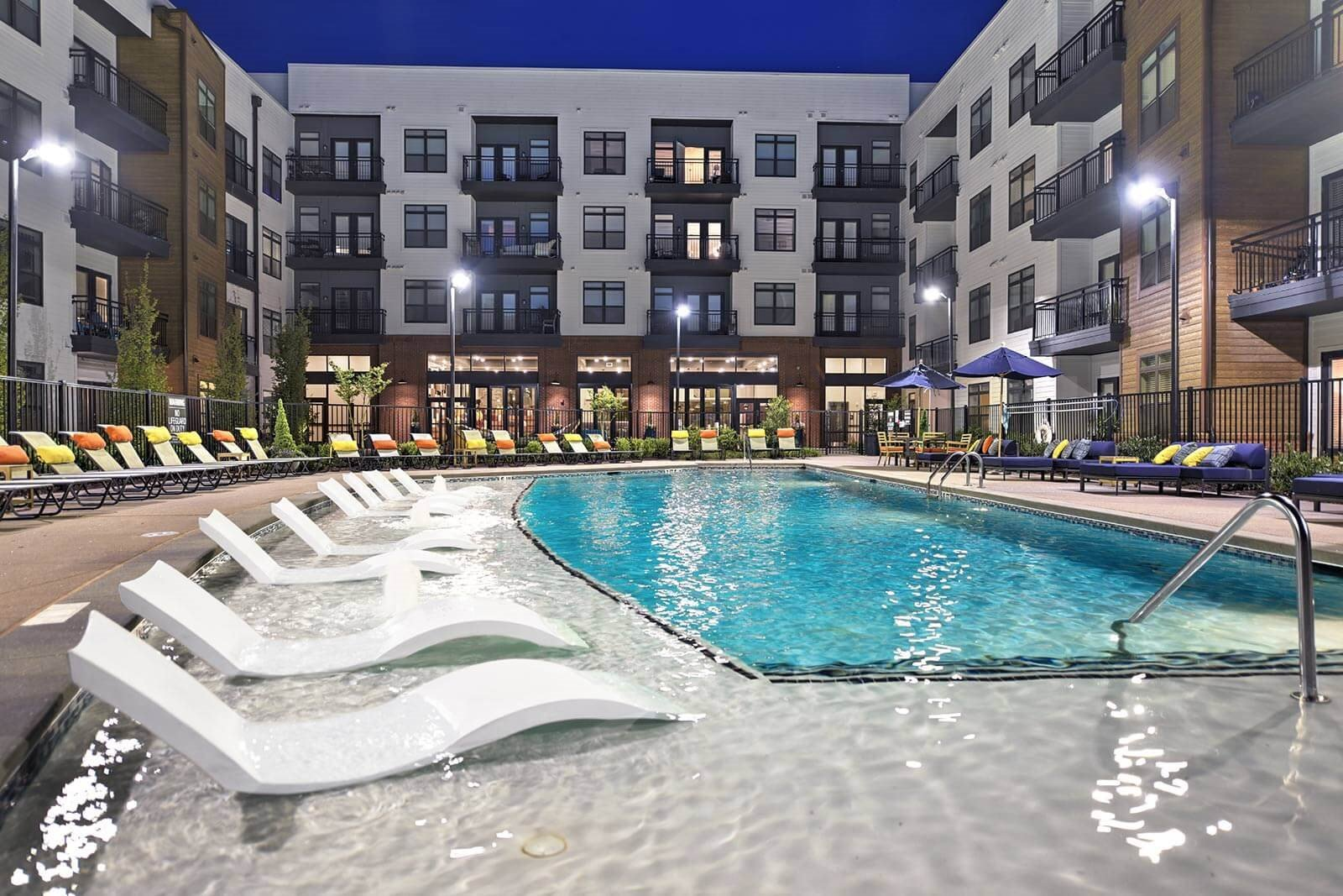Swimming Pool With Sundeck at Windsor Parkview, 5070 Peachtree Boulevard, Chamblee