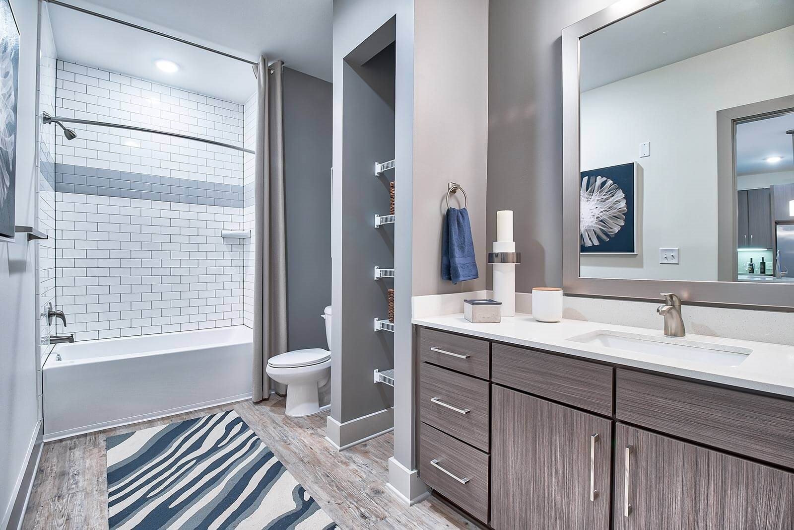 Modern Bathroom Fixtures with Ample Storage at Windsor Parkview, Chamblee, GA