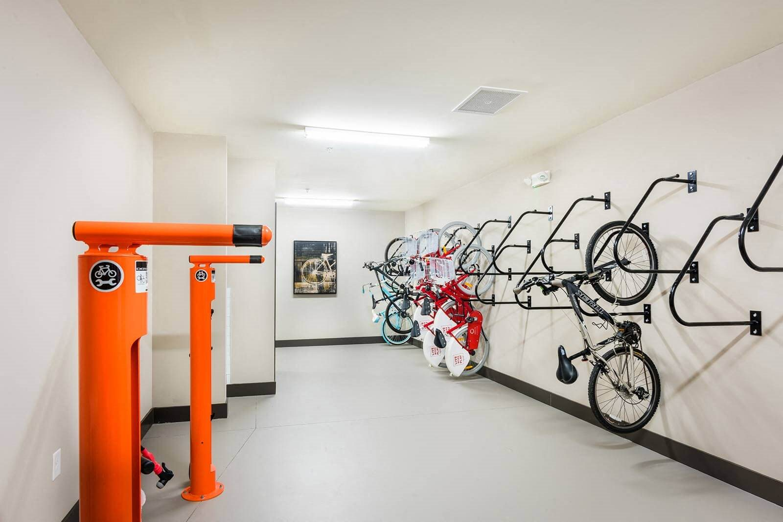 Indoor Bike Storage And Repair Facility at Windsor Parkview, Chamblee, GA