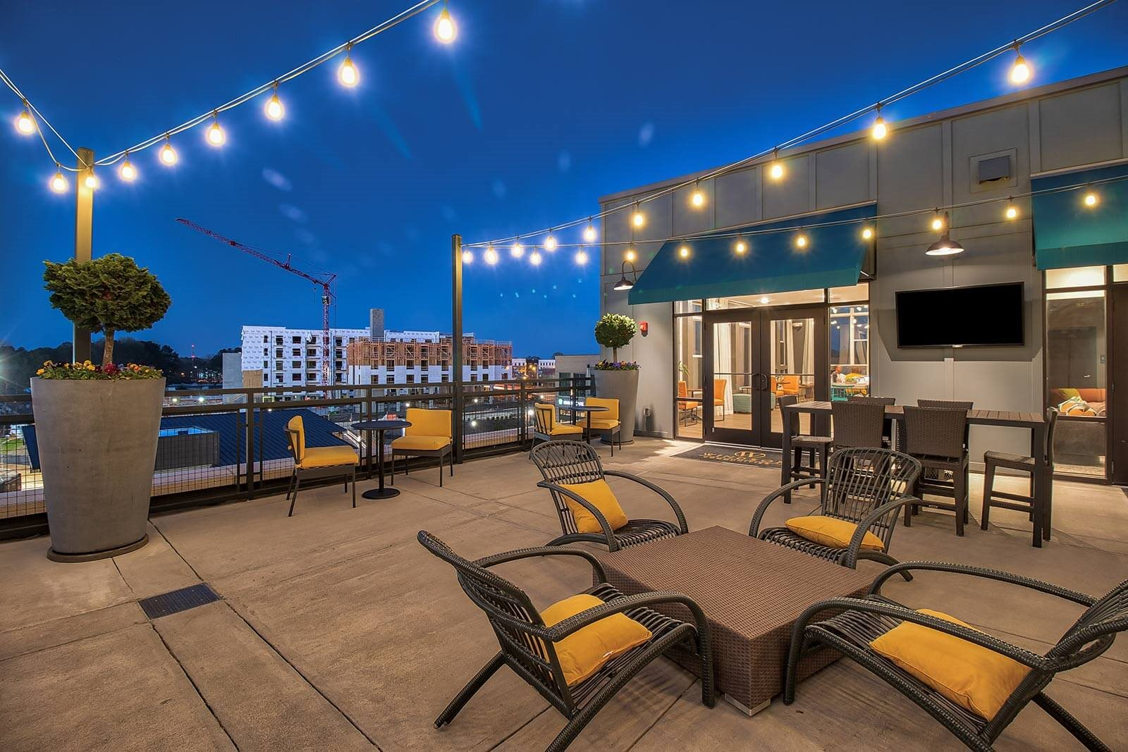 Outdoor Pavilion With Grilling Stations, TVs and Lounge at Windsor Parkview, Chamblee, GA