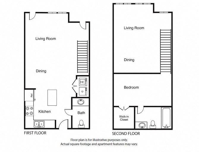 1 Bed 1.5 Bath  A4 Floor Plan at Windsor West Lemmon, Dallas, 75209