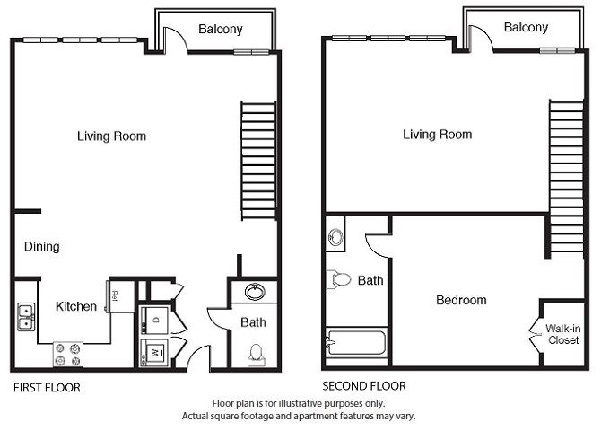 1 Bed 1.5 Bath Floor Plan A5 Floor Plan at Windsor West Lemmon, Dallas