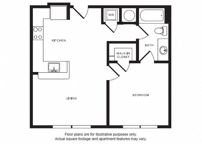 A2 floor plan at Windsor Shepherd, Texas, 77007