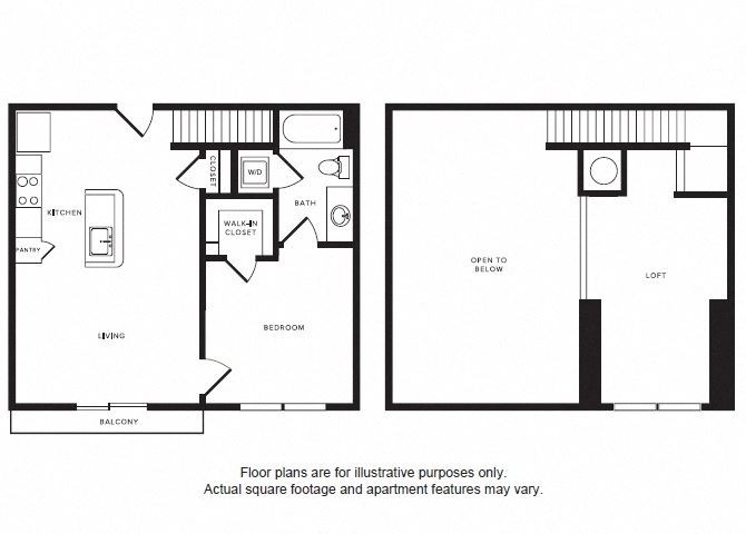 A2L floor plan at Windsor Shepherd, 611 Shepherd Dr, 77007