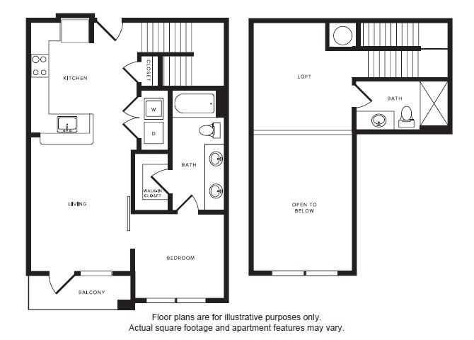 A4L floor plan at Windsor Shepherd, TX, 77007