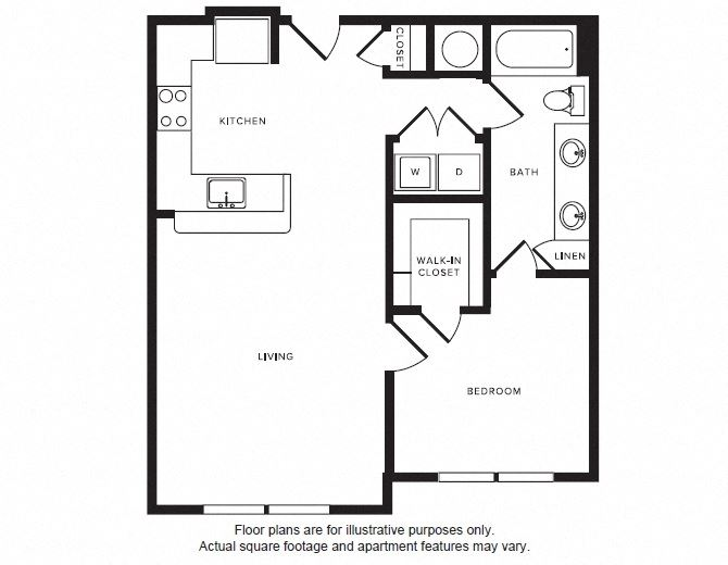 A6 floor plan at Windsor Shepherd, Houston, Texas