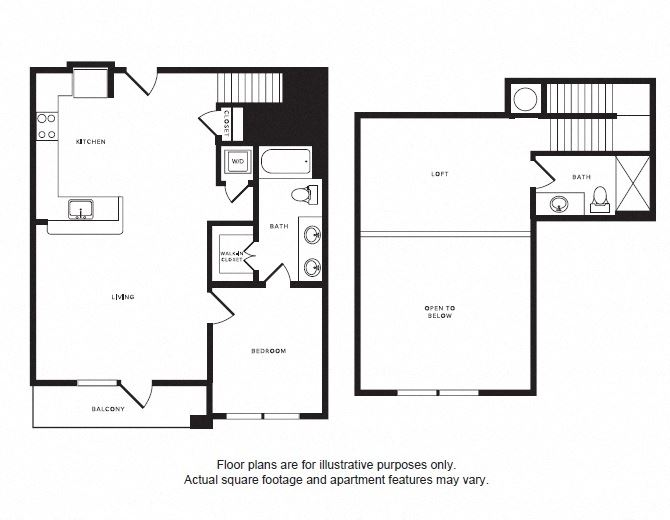 A7L floor plan at Windsor Shepherd, Houston, TX