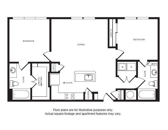 B1 floor plan at Windsor Shepherd, TX, 77007