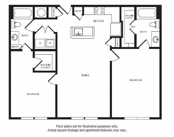 B3 floor plan at Windsor Shepherd, 611 Shepherd Dr, 77007