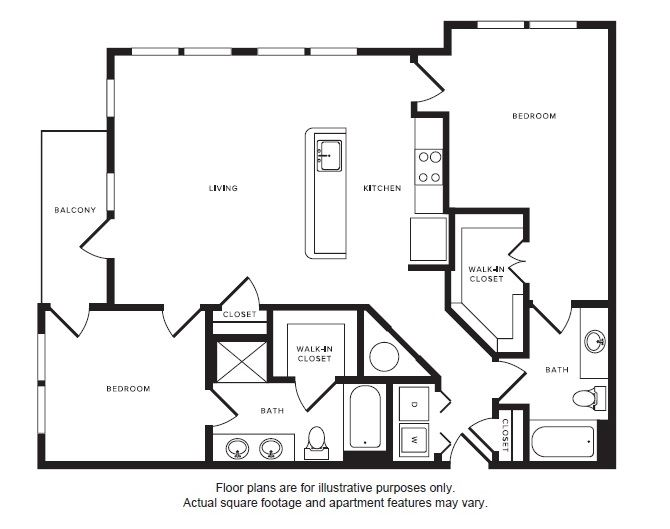 B4 floor plan at Windsor Shepherd, TX, 77007