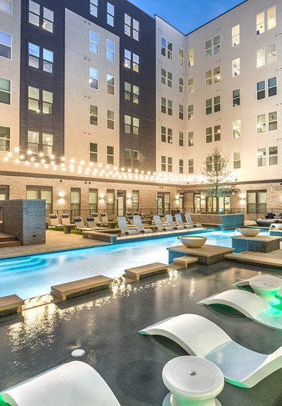 Pool Side Relaxing Area at Windsor Turtle Creek, Dallas, 75219