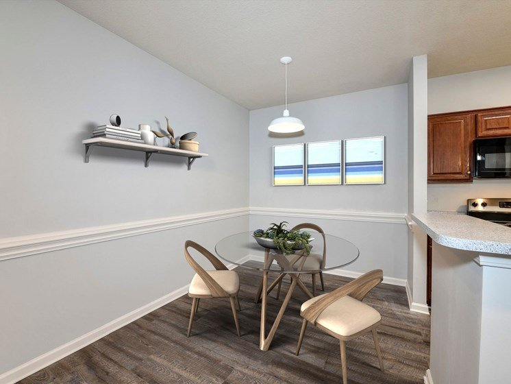 Separate Dining Spaces in Most Apartments at The Finley in Jacksonville
