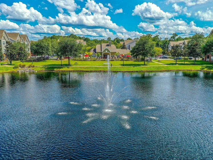 Tranquil Lake with Water Feature at The Finley, Jacksonville, FL  32210