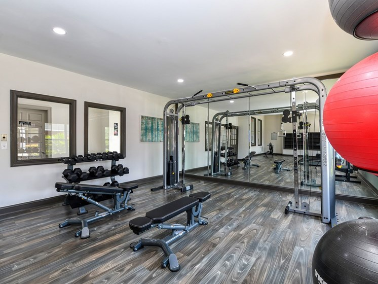 Fitness Center with Free Weights at The FInley, Jacksonville, FL  32210