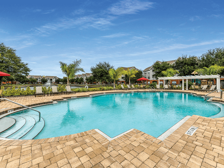 Swimming Pool with Covered Pergola at The Finley, Jacksonville, FL  32210