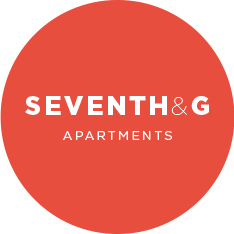 Seventh and G Apartments Logo Design at 7th and G Apartments in San Diego, CA