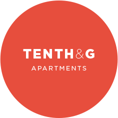 Tenth and G Apartments Logo Design at 10th and G Apartments in San Diego, CA