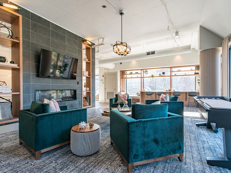 Community Lounge Area at St. Marys Square Apartments, Raleigh, NC, 27605