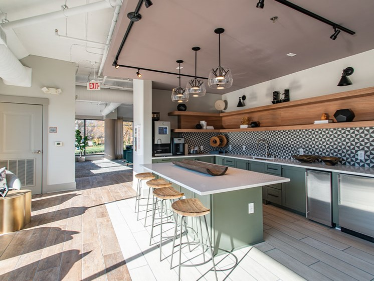 Community Kitchen at St. Marys Square Apartments, Raleigh, North Carolina