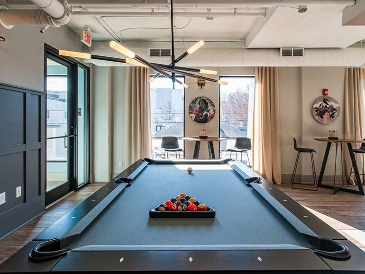 Billiards Table at St. Marys Square Apartments, Raleigh, 27605
