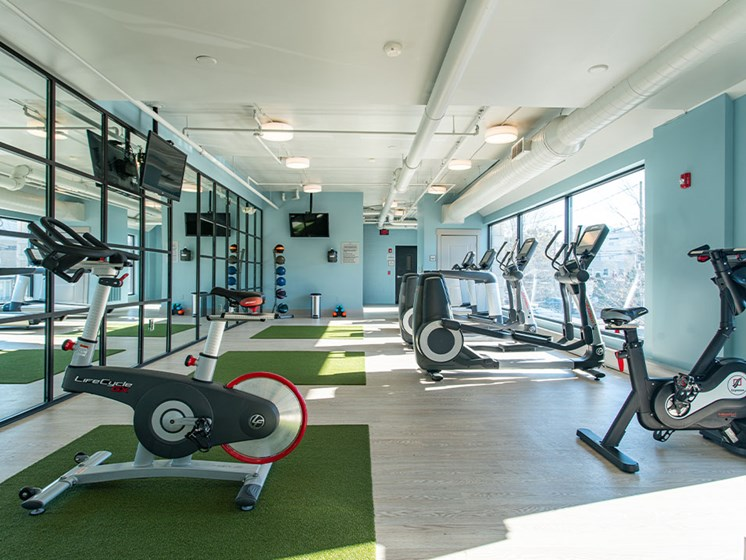 Fitness Center at St. Marys Square Apartments, Raleigh