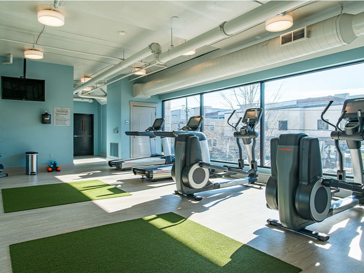 Fitness Center With Cardio at St. Marys Square Apartments, North Carolina