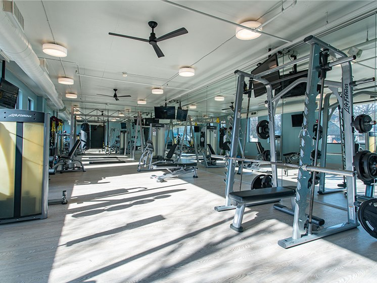 Two Story Fitness Center at St. Marys Square Apartments, Raleigh, NC, 27605