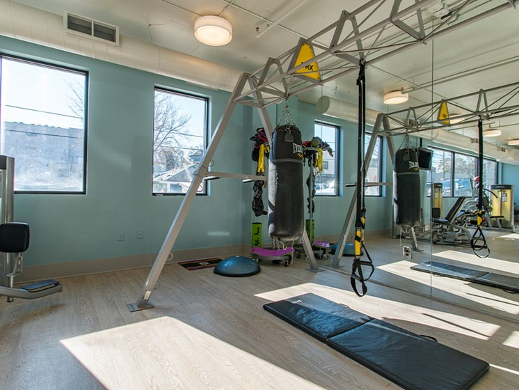 Fitness Center Equipment at St. Marys Square Apartments, Raleigh, NC
