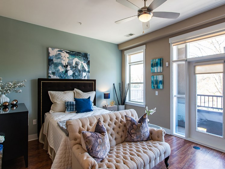 Bedroom at St. Marys Square Apartments, Raleigh, NC, 27605
