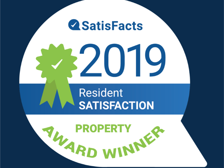 Satisfacts 2019 award badge at St. Marys Square Apartments, Raleigh, NC