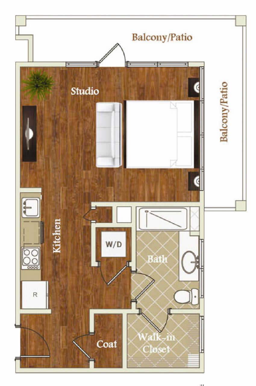 Floor Plan at St. Marys Square Apartments, Raleigh, NC