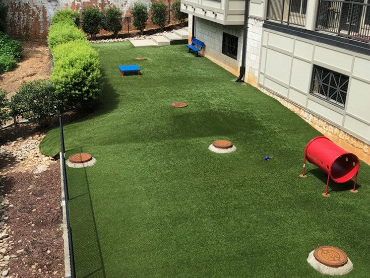 Dog park at St. Mary's Square Apartments, NC, 27605