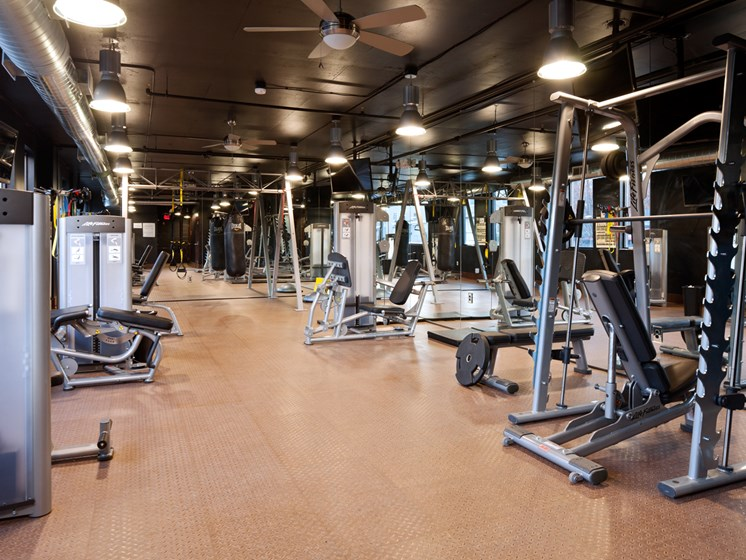 State of the art fitness center at St. Mary's Square Apartments, NC, 27605