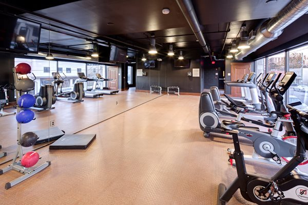 Fitness Center with Spin Room at St. Marys Square Apartments, Raleigh