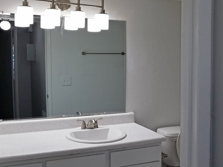 bathroom at Heritage Park Apartments in Tallahassee, FL 32304